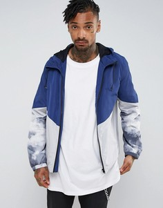 Синяя куртка-ветровка со вставкой на молнии ASOS - Синий