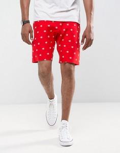 Красные шорты с принтом логотипа Champion - Красный