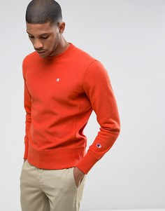 Свитшот с маленьким логотипом Champion - Оранжевый