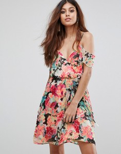 Платье мини с цветочным принтом Boohoo - Мульти