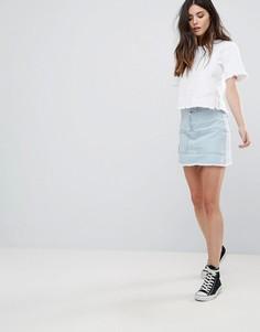 Джинсовая юбка с карманами спереди Daisy Street - Синий