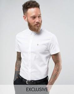 Оксфордская рубашка скинни с коротким рукавом Noose & Monkey - Белый