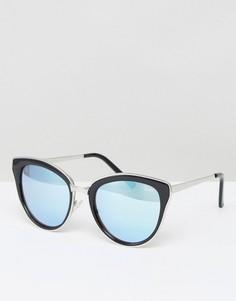 Солнцезащитные очки кошачий глаз Quay Australia Every Little Thing - Черный