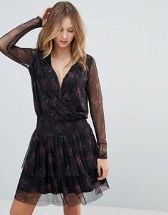 Платье с цветочным принтом Gestuz Mesha - Черный