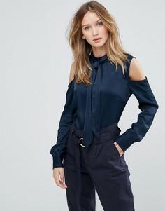 Атласная блузка Gestuz Tessa - Темно-синий
