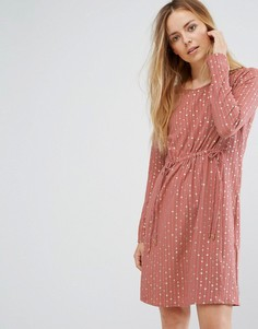 Платье с присборенной талией Vila - Розовый