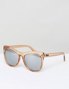 Солнцезащитные очки кошачий глаз Quay Australia Joyride - Серебряный