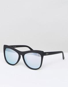 Солнцезащитные очки кошачий глаз Quay Australia Joyride - Черный