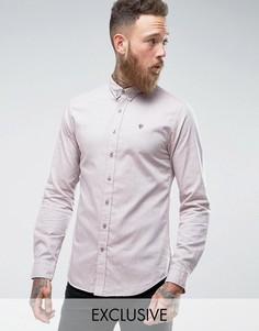 Оксфордская рубашка скинни Noose & Monkey - Светло-серый