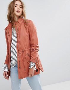 Выбеленная куртка в стиле милитари с высоким воротом Vero Moda - Розовый