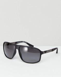 Солнцезащитные очки-авиаторы Emporio Armani - Черный