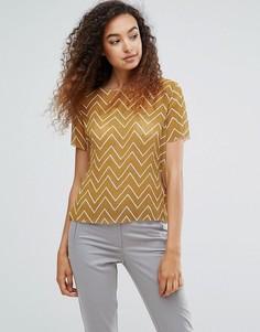 Блузка с узором зигзаг Ichi - Мульти