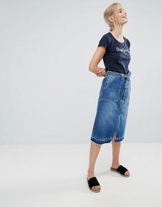 Джинсовая юбка с поясом Pepe Jeans Lulu - Синий