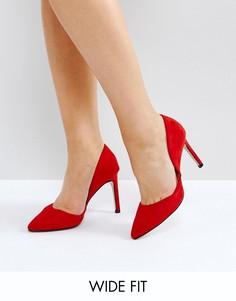 Красные туфли-лодочки для широкой стопы Lost Ink Diana DOrsay - Красный