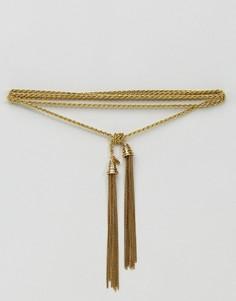 Ожерелье с кисточкой Vanessa Mooney - Золотой