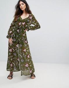 Платье макси Brave Soul - Зеленый