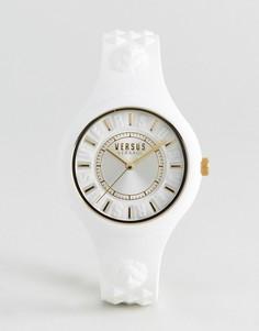 Белые часы с силиконовым ремешком Versus Versace SOQ04 Fire Island - Белый
