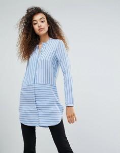 Рубашка в полоску Ichi - Выбирай и комбинируй - Синий