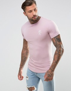 Розовая обтягивающая футболка Gym King - Розовый