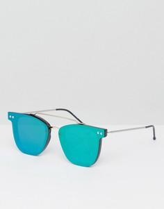 Круглые солнцезащитные очки с зелеными зеркальными стеклами Spitfire FTL - Зеленый