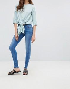 Супероблегающие джинсы Pieces Five Betty - Синий