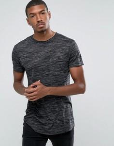 Длинная фактурная футболка D-Struct - Серый