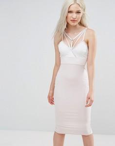 Платье миди AX Paris - Розовый