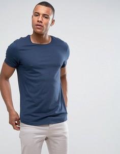 Длинная футболка с закатанными рукавами Esprit - Темно-синий