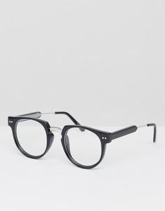 Круглые очки с прозрачными стеклами в черной оправе Spitfire Teddy Boy2 - Черный
