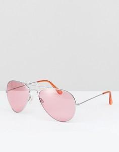 Солнцезащитные очки-авиаторы с розовыми стеклами Reclaimed Vintage Inspired - Синий