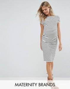 Платье с полосками сбоку New Look Maternity - Белый