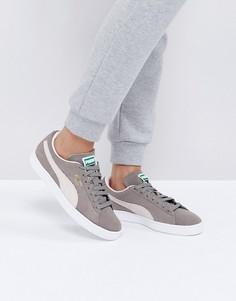Серые замшевые кроссовки Puma Classic - Серый