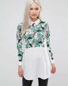 Рубашка с принтом Ax Paris - Белый
