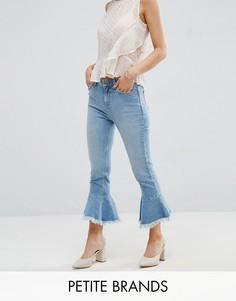 Расклешенные джинсы с оборками New Look Petite - Синий