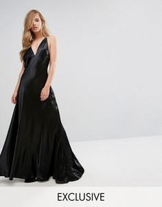 Платье макси металлик Fame and Partners Premium - Черный