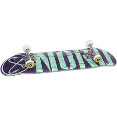 Скейтборд в сборе Nord Лого Purple/Mint/Polished Trucks 32 x 8 (20.3 см)