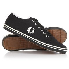 Кеды кроссовки низкие Fred Perry Kingston Twill Real Black