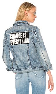 Джинсовая куртка с вышивкой - Pam & Gela