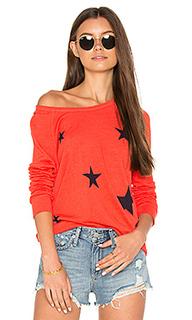 Укороченный пуловер со звездами - SUNDRY