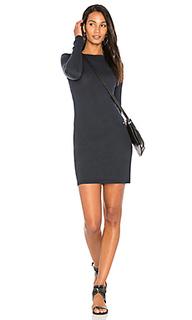 Мини платье с круглым вырезом и длинным рукавом - Enza Costa