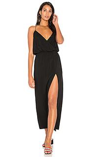 Макси платье с разрезом сбоку - BLQ BASIQ