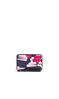 Сафьяновый кейс с молнией и ремешком на руку - Marc Jacobs