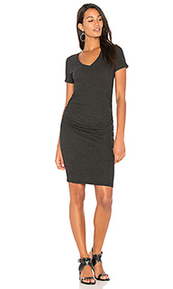 Платье-футболка с рюшами - Lanston