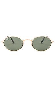 Овальные плоские солнцезащитные очки - Ray-Ban
