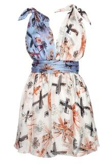 Шелковое платье Fausto Puglisi