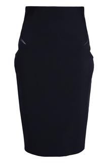 Однотонная юбка Mugler