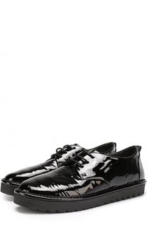 Лаковые ботинки на шнуровке Marsell