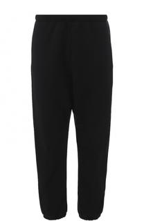 Хлопковые брюки свободного кроя с манжетами на резинке Balenciaga