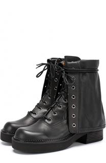 Кожаные ботинки на шнуровке See by Chloé