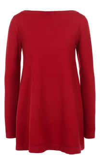 Пуловер свободного кроя с вырезом-лодочка Alaia